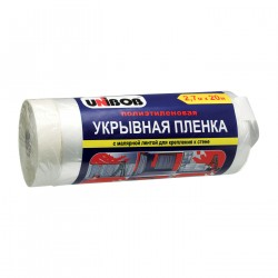 Пленка укрывная с малярной лентой Unibob 2.7М Х20 М