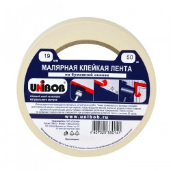 Лента малярная клейкая Unibob 19мм*50м