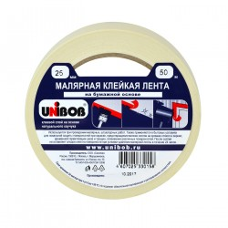 Лента малярная клейкая Unibob 25мм*50м