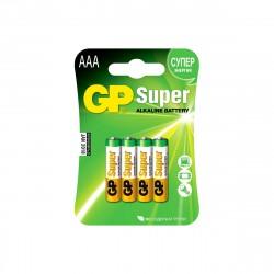 Батарейка ААА алкалиновая GP Super Alkaline, 4шт
