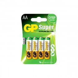 Батарейка АА алкалиновая GP Super Alkaline, 4шт