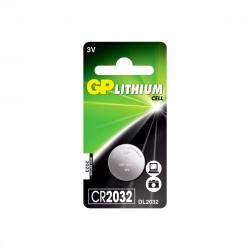 Батарейка дисковая CR2032 GP Lithium, 1шт