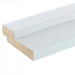 Брус коробочный ламинированный, белый 26*70