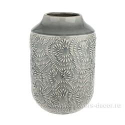 Ваза керамическая 28см серая HC04176