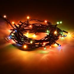 Электрогирлянда Нить 100 разноцветных LED ламп длина 10 м, 220 v 55057