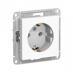 Розетка AtlasDesign с заземлением 16А механизм белый ATN000143