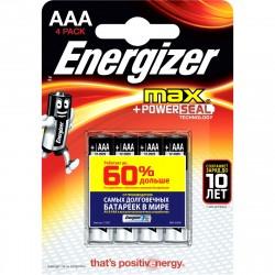 Батарейка ААА алкалиновая Energizer MAX, 4шт