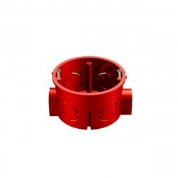 Коробка установочная 400В для кирпичных стен с саморезами 68*42мм красная GE40010-06