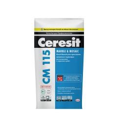 Клей для плитки Ceresit CM 115, цвет белый, 5 кг