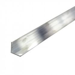 Уголок алюминиевый, 20 х 10 х 1,2 мм, длина 2 м, цвет серебро