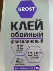 Клей для обоев KROST флизелиновый 500г
