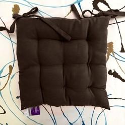 Галета на стул 40*40 04 велюр однотонный темно-коричневый