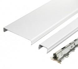 Комплект реечного потолка д/туалета 1.35х0.9м AN85A белый с раскладкой белый матовый