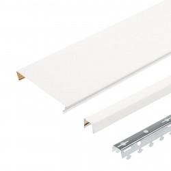 Комплект реечного потолка д/ванной 1.7х1.7м A150AS белый жемчуг