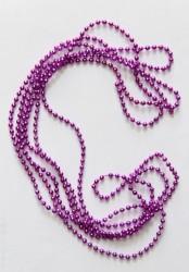 Бусы- гирлянда фиолетовые 270см полистирол 38676