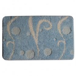 Коврик для ванной комнаты 45*75 см Italy, голубой