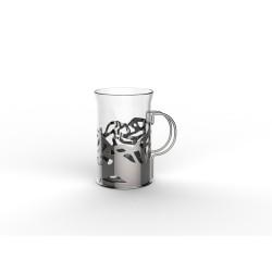 Набор стаканов в подстаканнике APOLLO genio Cite Silver 250мл 2шт CTS-250