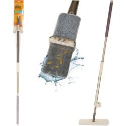 Швабра для пола WRING с механизмом отжатия и насадкой из микрофибры Рыжий Кот 004654