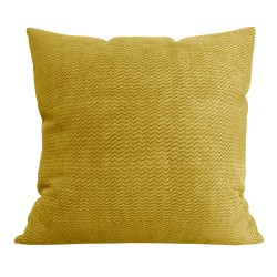 Подушка декоративная Нрава 44x44 Велюр Желтый