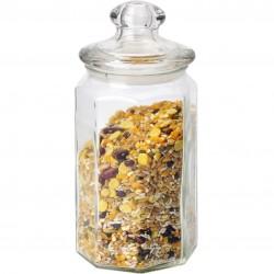 Банка 900мл для сыпучих продуктов Lattina Mallony с фигурной стеклянной крышкой 004469