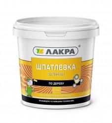 Шпатлевка по дереву ЛАКРА 1,5кг белый