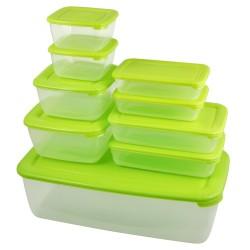 Набор емкостей для хранения продуктов 9шт Plastteam POLAR Лайм 2*0,45+2*0,46+3*0,9 PT9988