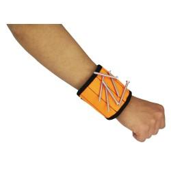 Магнитный браслет с неодим.магнитами, оранжевый, MasterProf HS.110047