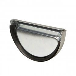Заглушка желоба оцинкованная, d-125 мм