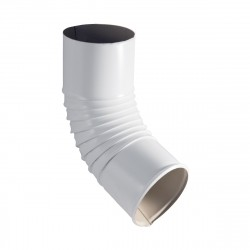 Колено стока, цвет сигнально-белый RAL 9003, d-100 мм