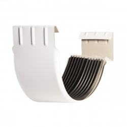 Соединитель желоба, цвет сигнально-белый RAL 9003, d-125 мм