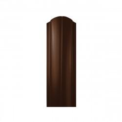 Штакетник ЕВРО фигурный, цвет шоколадно-коричневый RAL 8017, 1800 х 130 мм