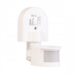 Датчик движения инфракрасный настенный 1200Вт, до 12м, IP44 sbl-ms-008 Smartbuy
