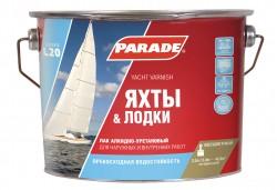 Лак яхтный PARADE 2,5л матовый