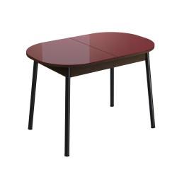 Стол обеденный раздвижной Енисей (1,1*0,7*0,75) Эмаль красный матовый
