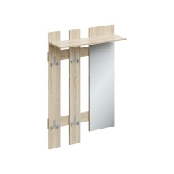 Вешалка с крючками и зеркалом ТАК-8 780х270х1180 (Дуб сонома)