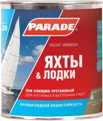 Лак яхтный PARADE 0,75л матовый