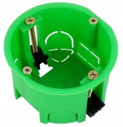 Коробка установочная 400В полые стены пластиковые лапки 68*40мм инд уп КУ1203и HEGEL