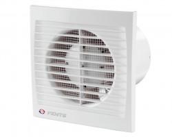 Вентилятор вытяжной осевой накладной 100мм Вентс 100С белый, с моск.сеткой и обр.клапаном, Vents