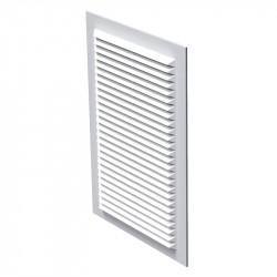 Решетка вентиляционная ПВХ 238*170мм без фланца белая, моск.сетка, MB 125-1с (Р), ВЕНТС