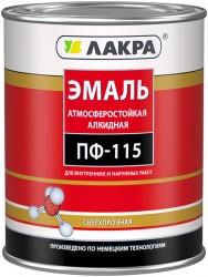 Эмаль ПФ-115 (Лакра) 0,9кг белый