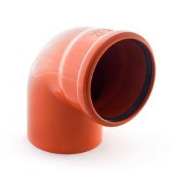 Отвод наружной канализации 110/90°