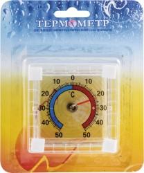 Термометр оконный ТББ Биметаллический, квадратный, в блистере