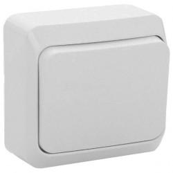 Выключатель 1кл Lexel Этюд наружный белый BA10-001b