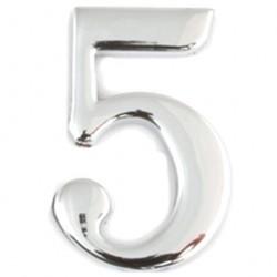 Цифра дверная Apecs 5 хром