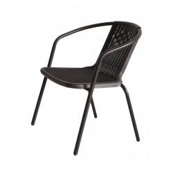 Кресло Ротанг пластик коричневый