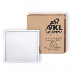 Светильник LED универс. VLSU-1 36Вт 220В 6500К 3060Лм (595*595*19) (VLSU-1--36-6500) VKL electric