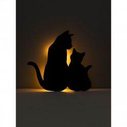 Ночник ЛЮЧИЯ 125 Кошачья семейка аккумуляторный 1W напольный/настольный