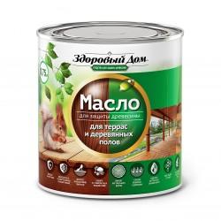 Масло для террас и деревянных полов Здоровый Дом махагон 0,75л Л-С