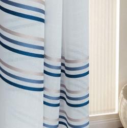 Тюль 43888 3.0х2.7м льняная ткань, синий