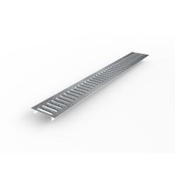 Решетка водоприемная Ecoteck STANDART 100 стальная штампованная оцинкованная (с отверстиями)